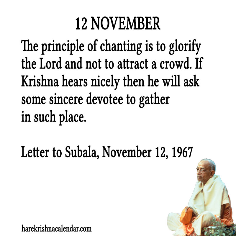 Prabhupada Quotes For The Month of November 12