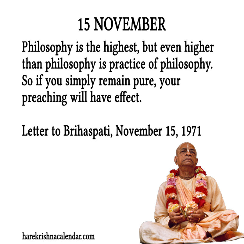 Prabhupada Quotes For The Month of November 15