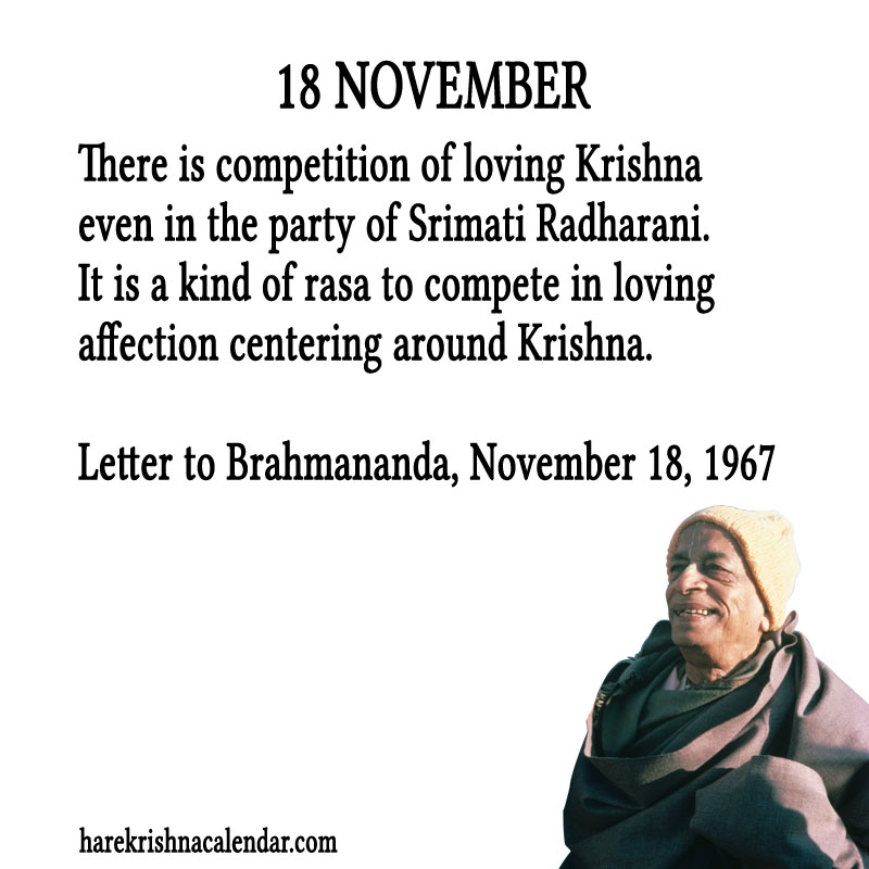 Prabhupada Quotes For The Month of November 18