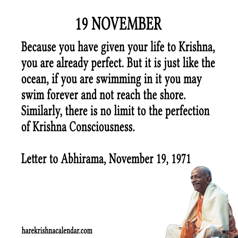 Prabhupada Quotes For The Month of November 19
