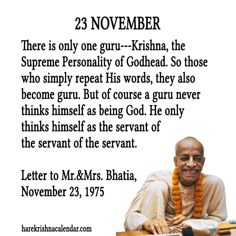 Prabhupada Quotes For The Month of November 23
