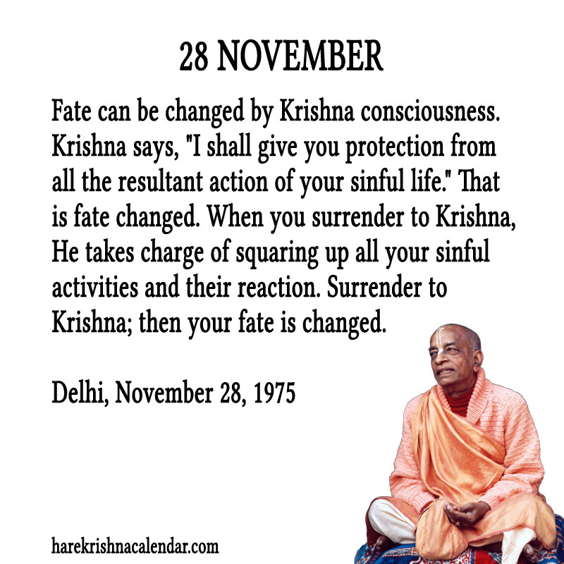 Prabhupada Quotes For The Month of November 28