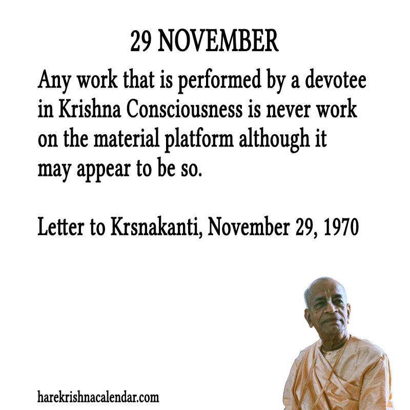 Prabhupada Quotes For The Month of November 29