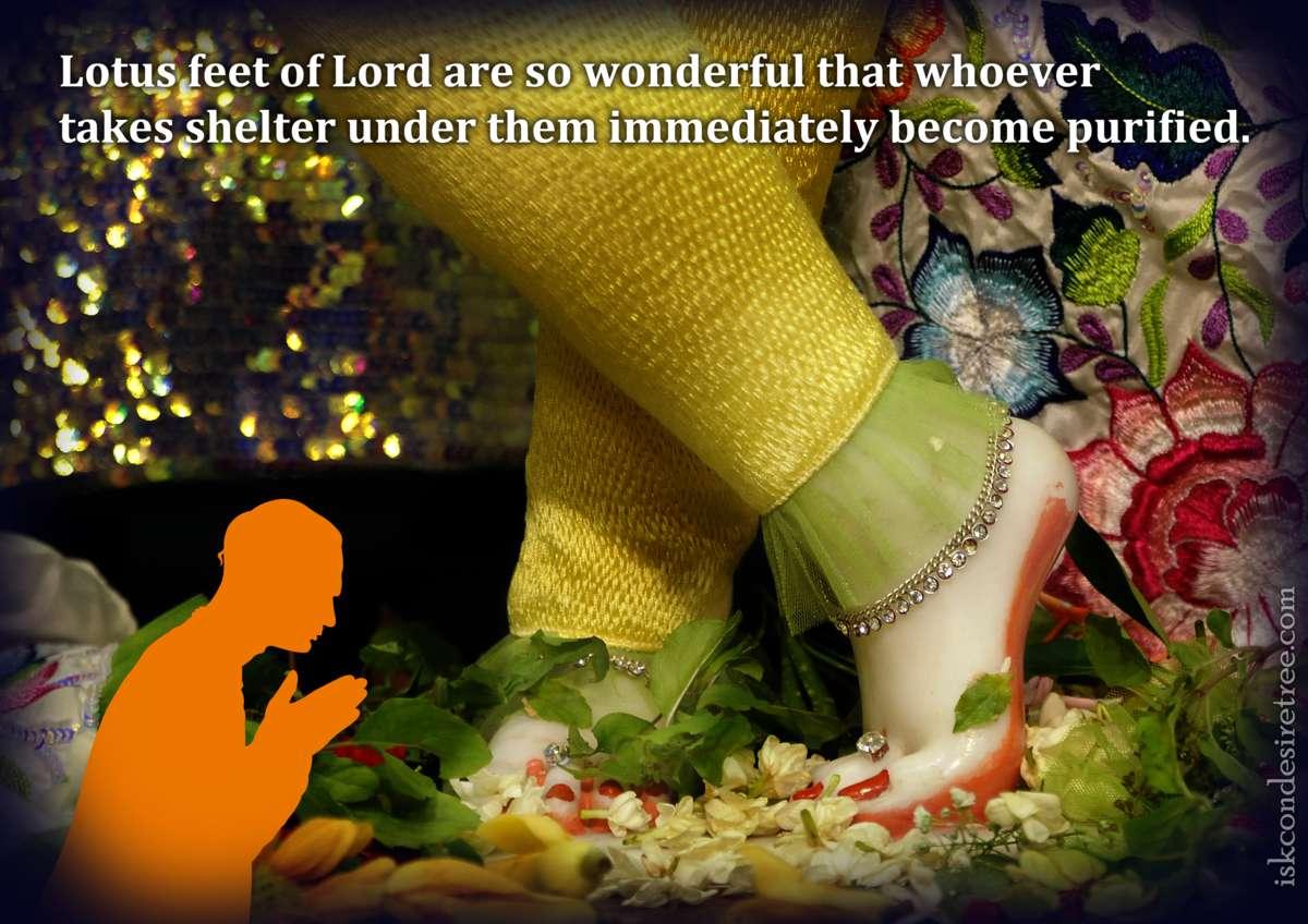 Bhakti Charu Swami on Wonder of the Lord's Lotus Feet