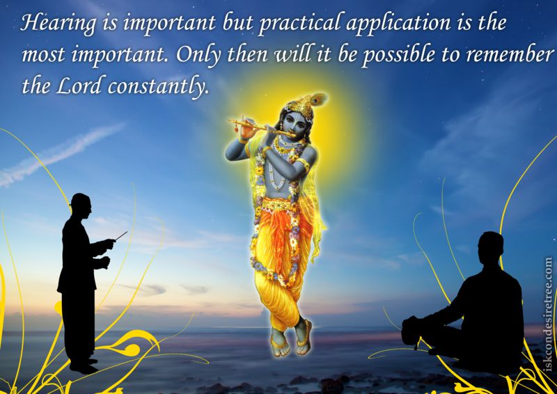 Bhakti Swarup Damodar Swami on Practical Application