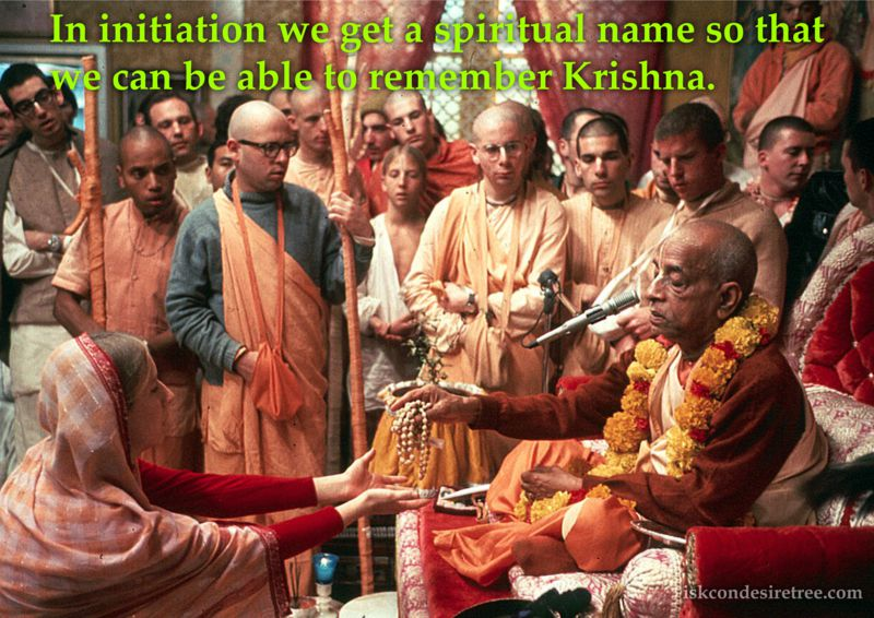 Bhakti Swarup Damodar Swami on Spiritual Name