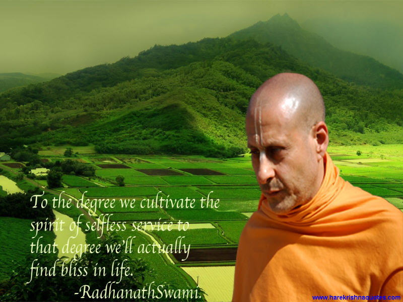 Radhanath Swami on Cultivating the Spirit of Selfless Service