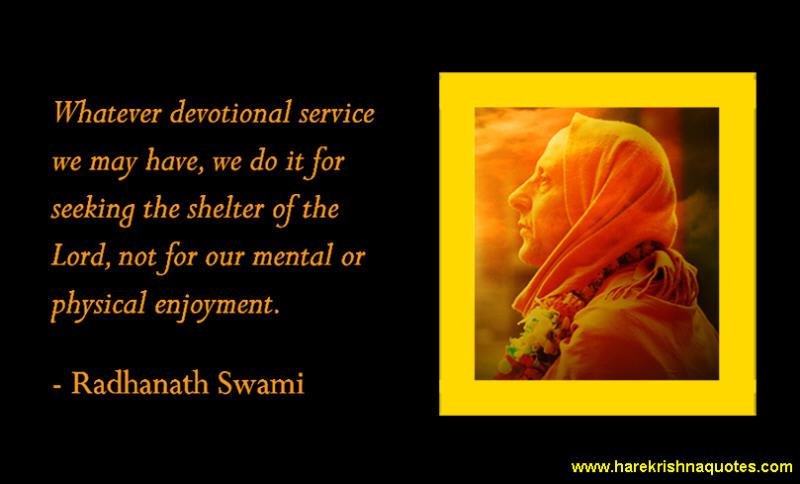 Radhanath Swami on Devotional Service