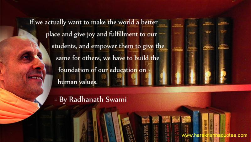 Radhanath Swami on Education with Human Values