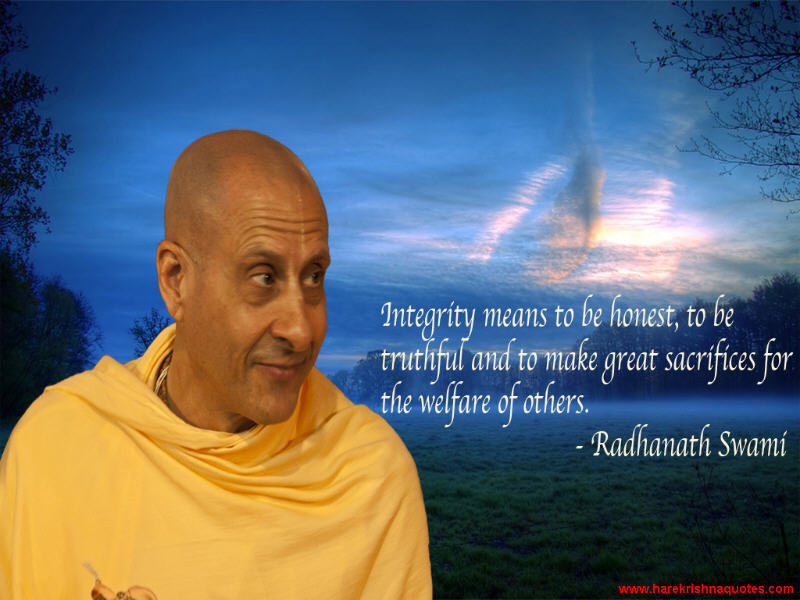 Radhanath Swami on Integrity