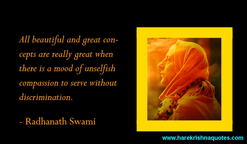 Radhanath Swami on Unselfish Compassion