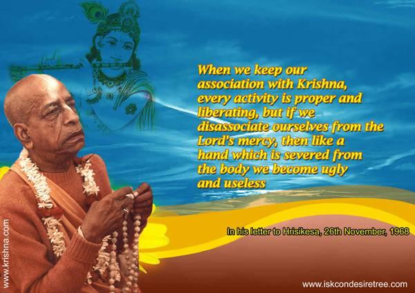 Quotes by Srila Prabhupada on Associating With Krishna
