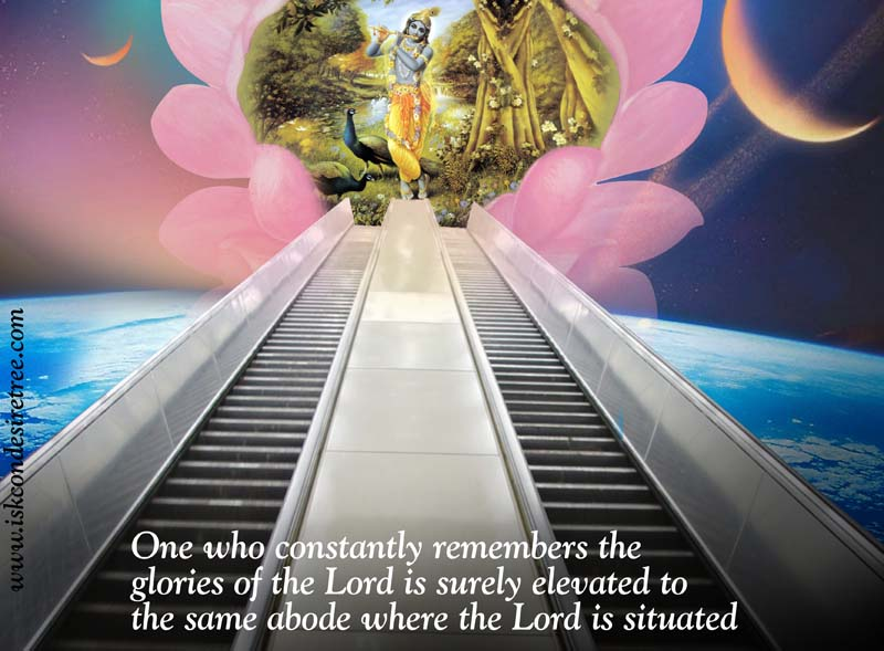 Quotes by Srila Prabhupada on Being Elevated to The Lord's Abode