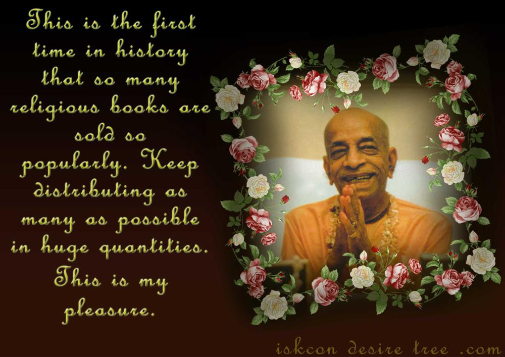 Quotes by Srila Prabhupada on Book Distribution - Pleasure of Srila Prabhupada