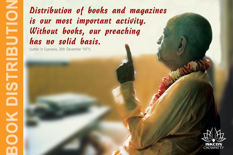 Quotes by Srila Prabhupada on Book Distribution