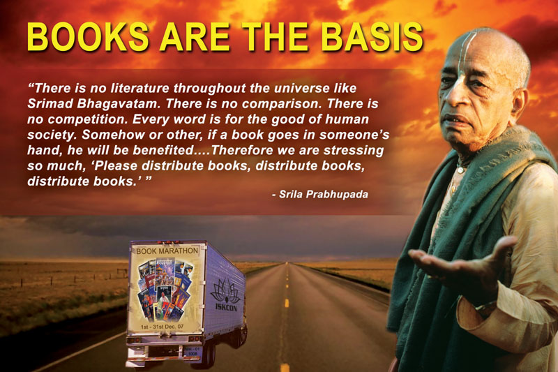 Quotes by Srila Prabhupada on Distributing Books