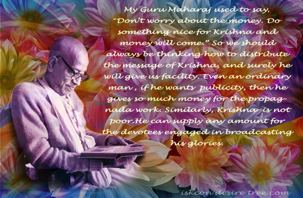 Quotes by Srila Prabhupada on Distributing The Message of Lord Krishna