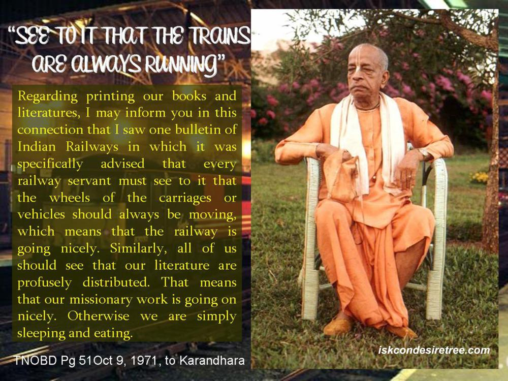 Quotes by Srila Prabhupada on Ensuring Book Distribution