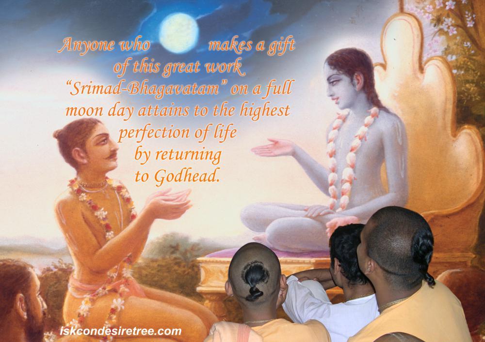 Quotes by Srila Prabhupada on Gifting Srimad Bhagavatam