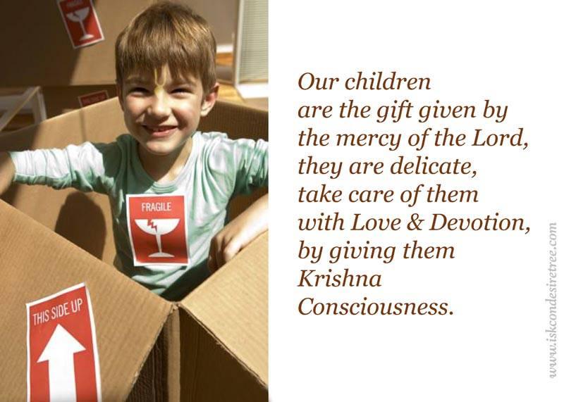 Quotes by Srila Prabhupada on Giving Krishna Consciousness to Children