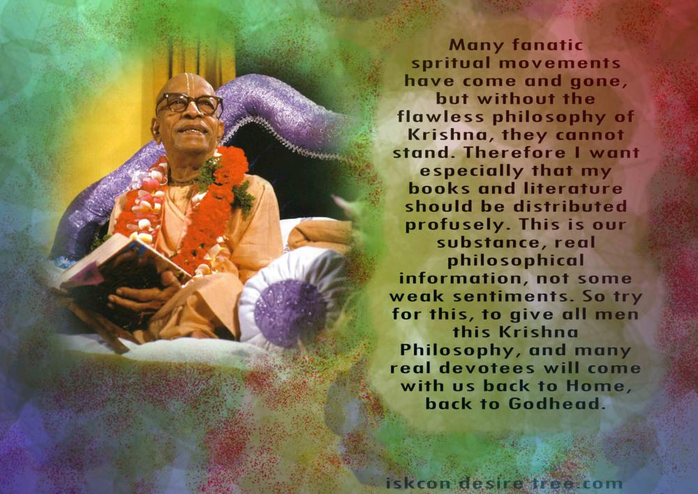 Quotes by Srila Prabhupada on Giving The Krishna Philosophy to All Men