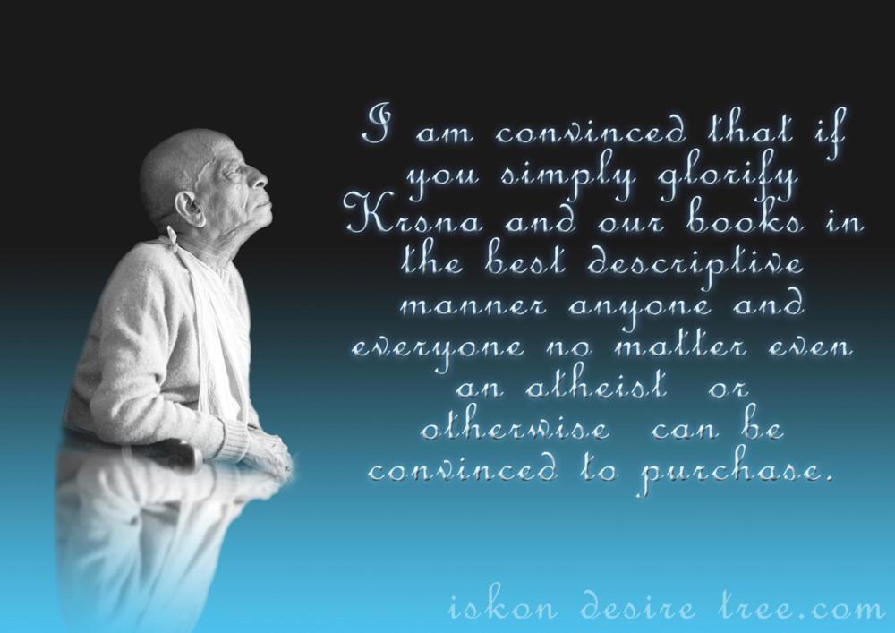 Quotes by Srila Prabhupada on Glorifying Krishna and His Books