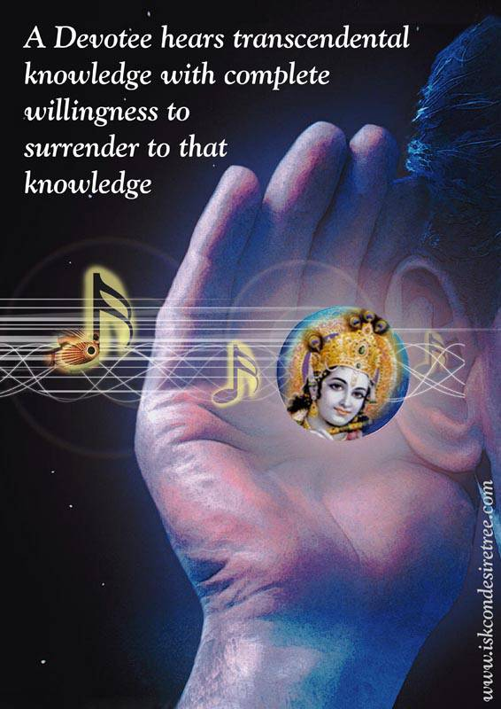 Quotes by Srila Prabhupada on Hearing Transcendental Knowledge