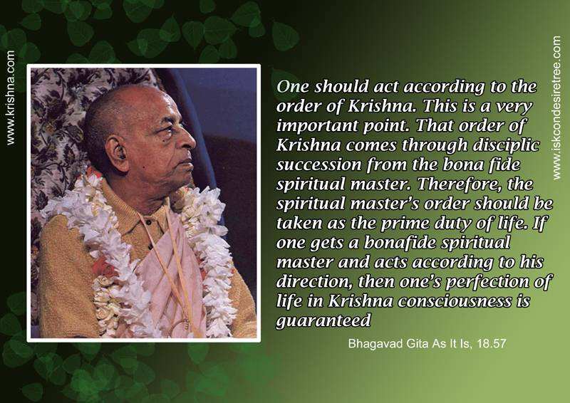 Quotes by Srila Prabhupada on How Should We Act