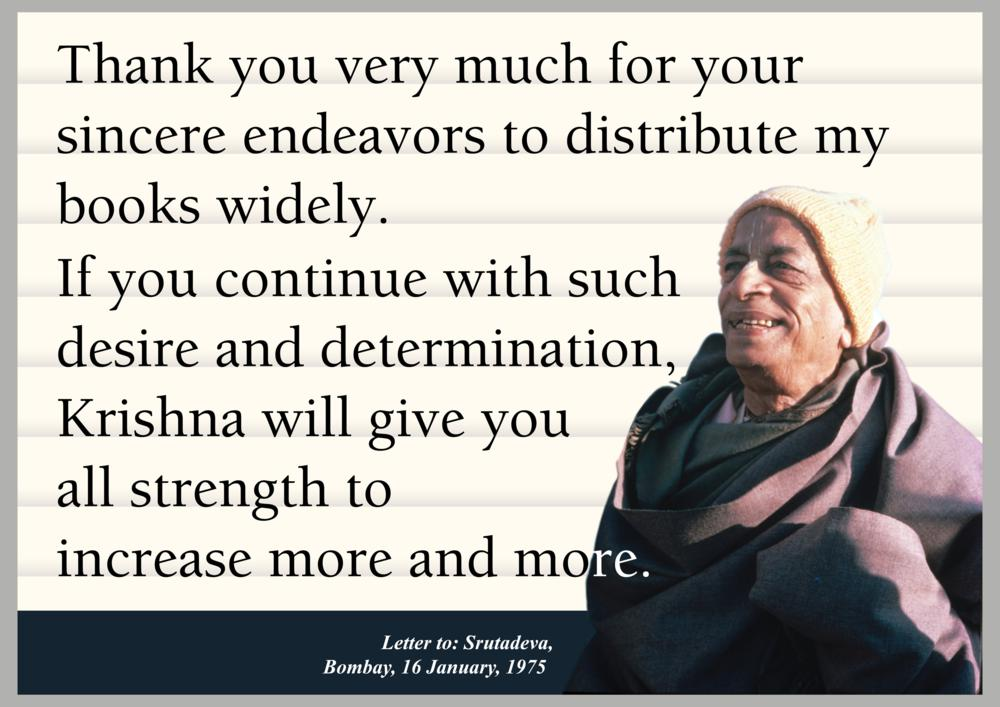 Quotes by Srila Prabhupada on Increasing Book Distribution