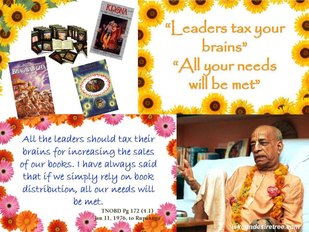 Quotes by Srila Prabhupada on Increasing Sales of Books