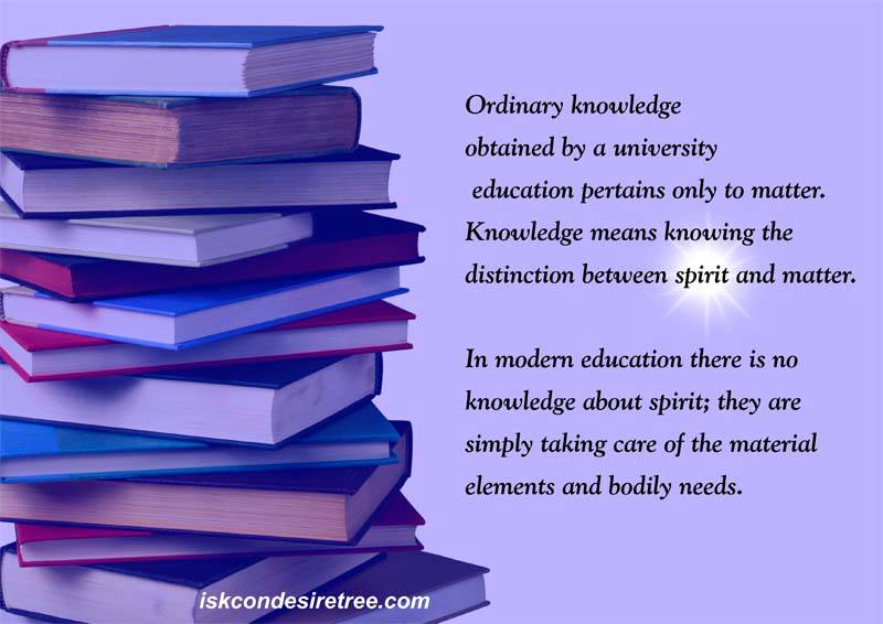 Quotes by Srila Prabhupada on Knowledge