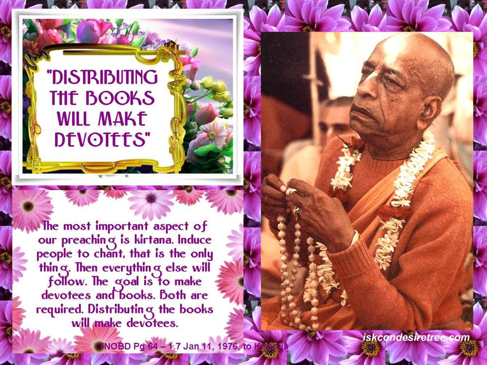 Quotes by Srila Prabhupada on Making Devotees