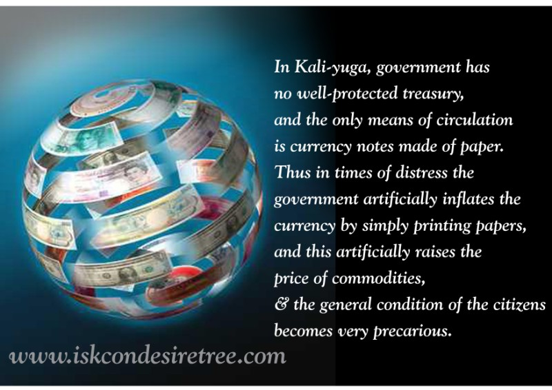 Quotes by Srila Prabhupada on Paper Currency