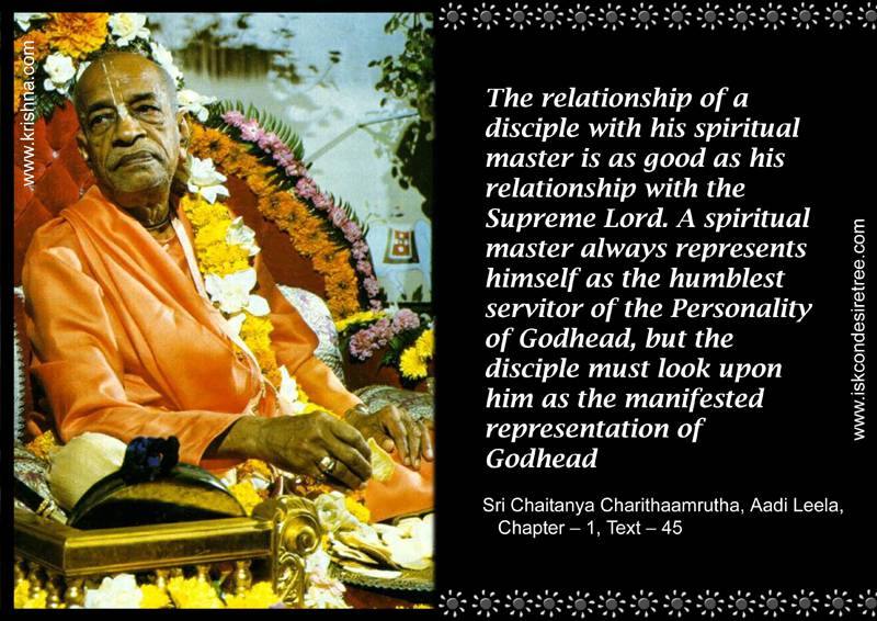 Quotes by Srila Prabhupada on Relationship Between The Disciple and His Spiritual Master