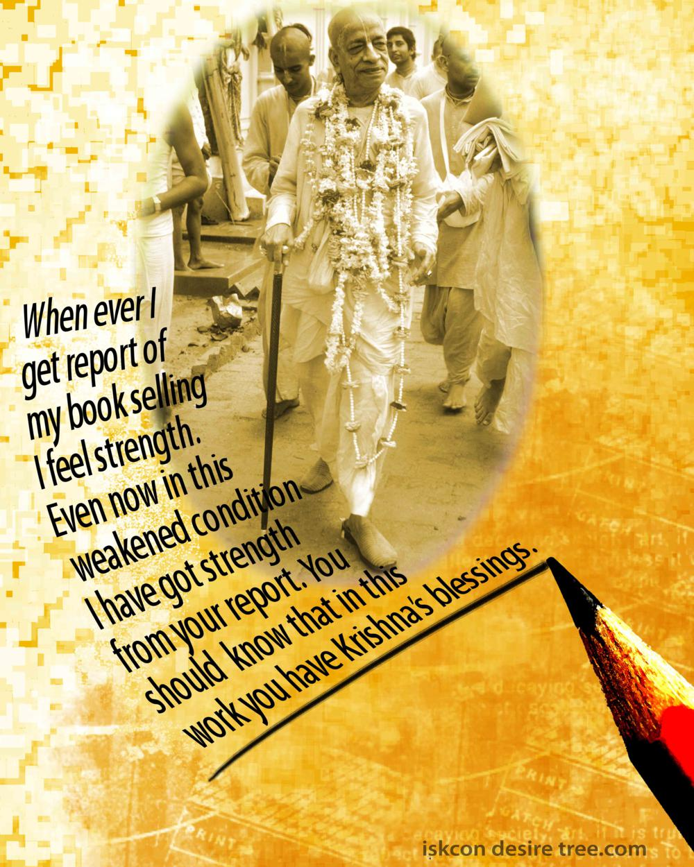 Quotes by Srila Prabhupada on Report of Book Selling