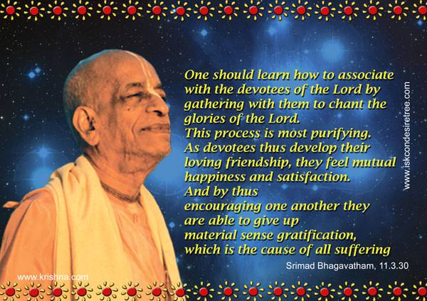 Quotes by Srila Prabhupada on Result of Association with Devotees