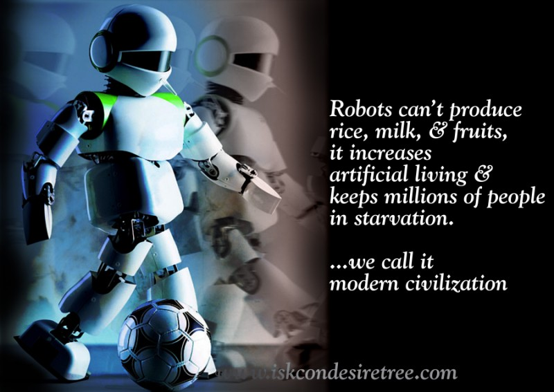 Quotes by Srila Prabhupada on Robots
