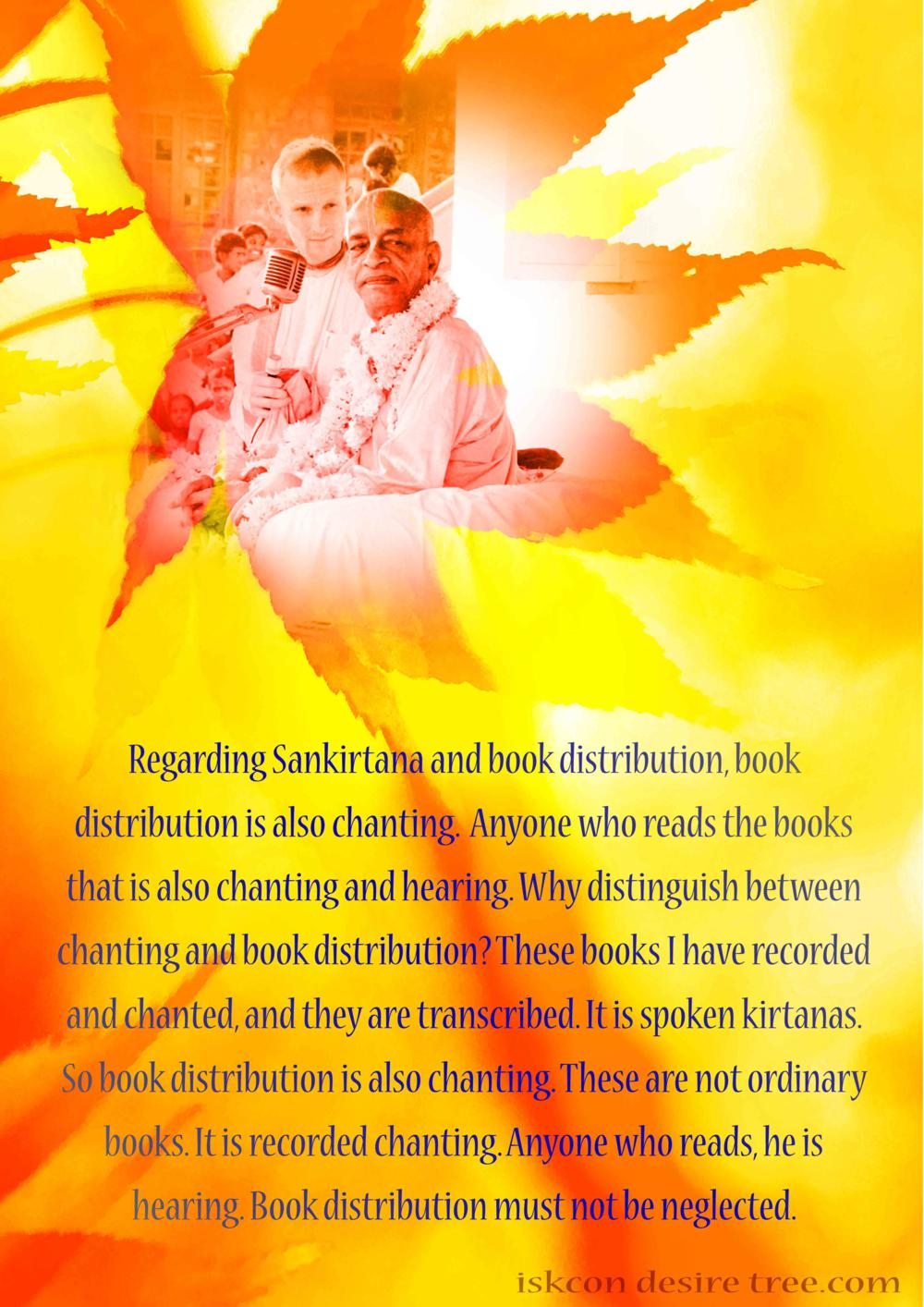 Quotes by Srila Prabhupada on Sankirtan and Book Distribtuion