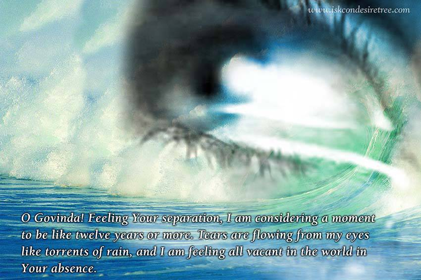 Quotes by Srila Prabhupada on Separation From Lord Govinda