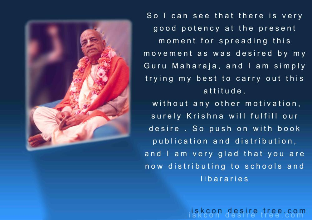 Quotes by Srila Prabhupada on Spreading of ISKCON