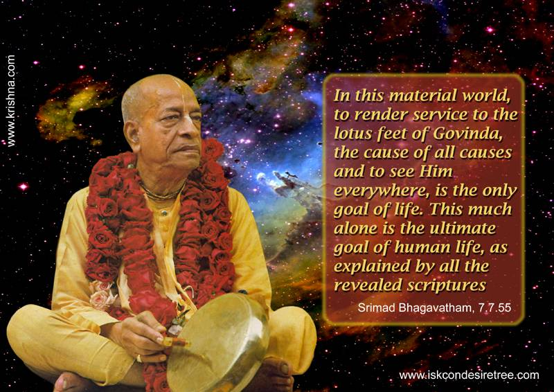 Quotes by Srila Prabhupada on The Goal of Life