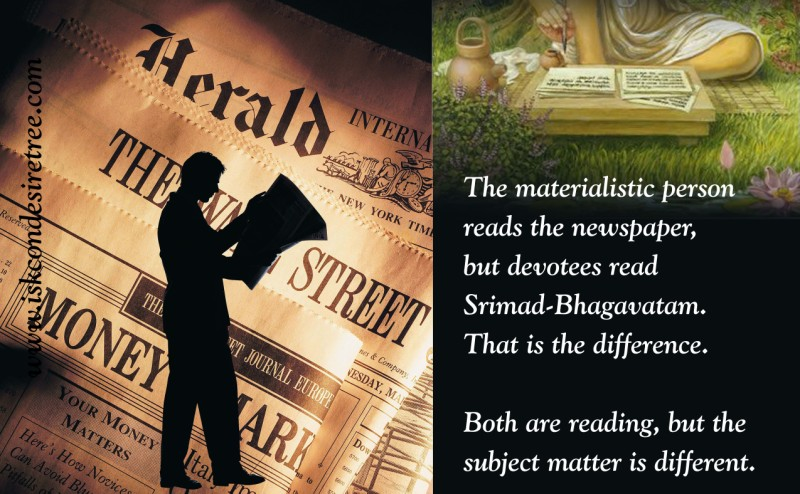 Quotes by Srila Prabhupada on The Subject Matter of Reading