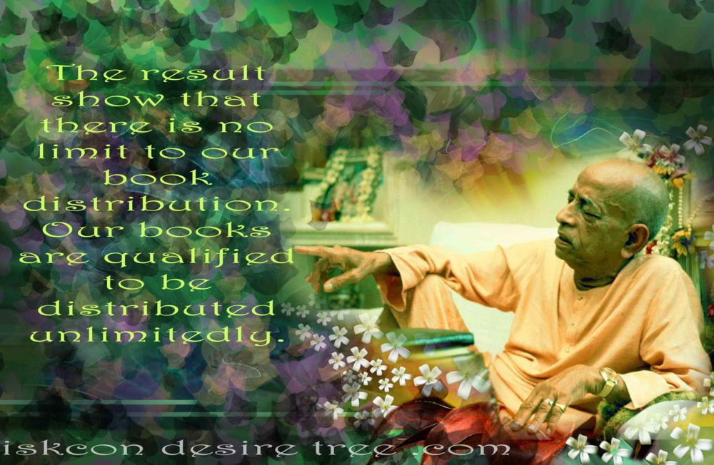 Quotes by Srila Prabhupada on Unlimitedly Distributing Books