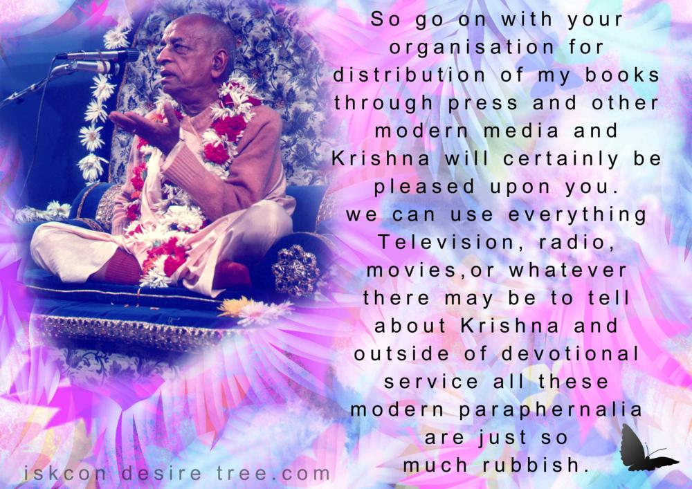 Quotes by Srila Prabhupada on Using Modern Paraphernalia For Book Distribution