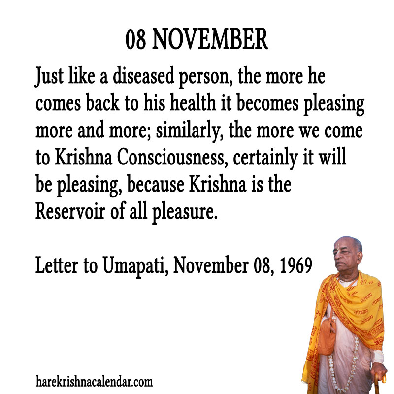 Prabhupada Quotes For The Month of November 08