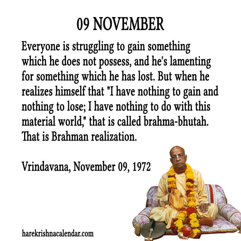 Srila Prabhupadas Quotes for November 09