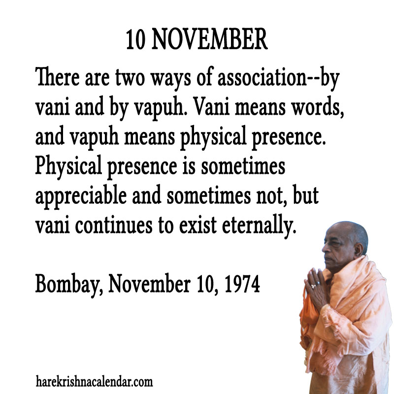 Prabhupada Quotes For The Month of November 10
