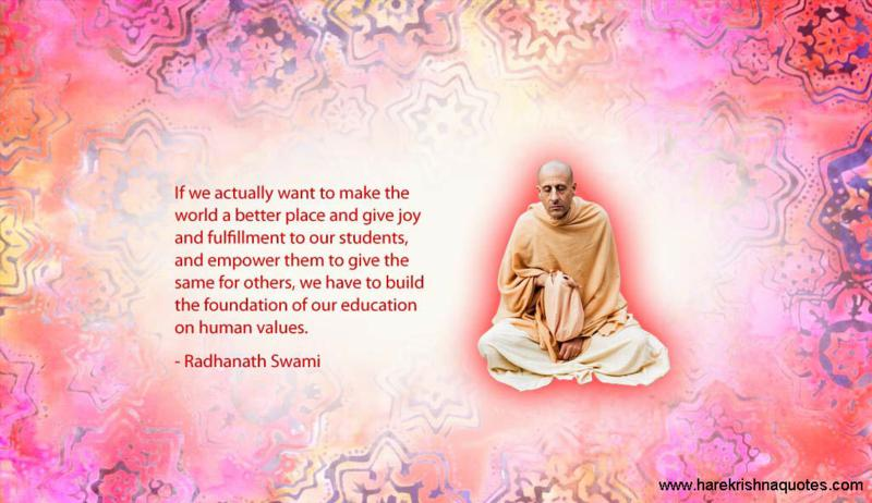 Radhanath Swami on Foundation of Our Education