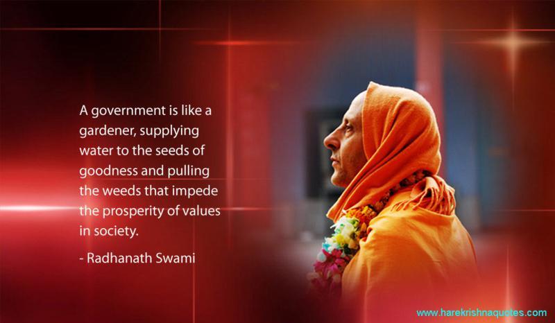 Radhanath Swami on Government