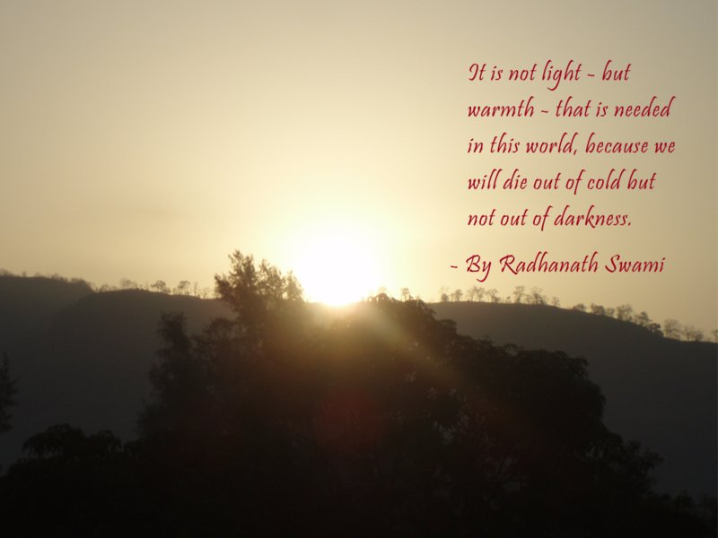 Radhanath Swami on Need in This World